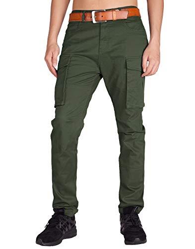 Italy Morn Männer Chino Cargo Arbeitshose Herren Baumwolle Loose Fit 38 Armeegrün