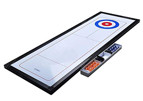 Amazing Deal ZHCSS Tabletop Curling Game Shuffleboard Games Portable Indoor Game Interactive Family Game for Kids and Adults,White