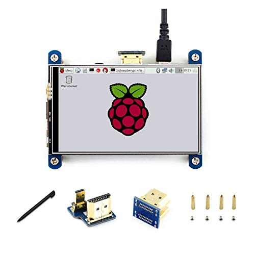 4 Zoll HDMI IPS Touchscreen 800 * 480 Widerstandsfähige LCD-Schnittstelle IPS für Raspberry pi 4 / 3B + / B