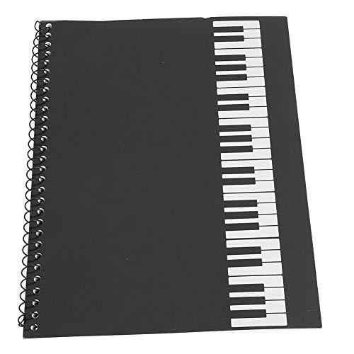 Dilwe Musik-Notizbuch, Manuskriptpapier-Notizbuch 50 Seiten Notenschrift Notizen-Notenblatt Manuskript-Schreibpapier(Schwarzes Klavier)
