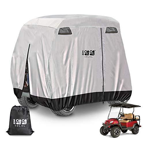 "10L0L Newest 4 Passenger Golf Cart Cover Storage Cover 400D Roof 80"" L Fits EZGO Club Car and Yamaha"