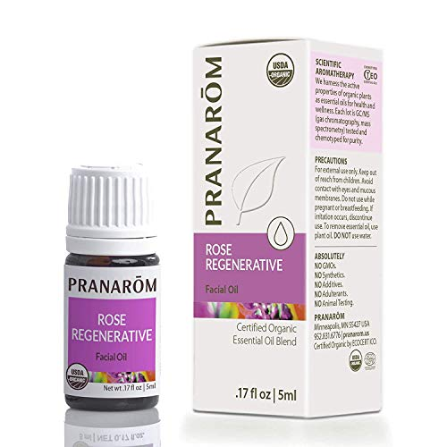 Pranarom - Rose Regenerative Facial Essential Oil Blend (5ml) - 100% Pure Natural Therapeutic Grade Essential Oil for Skincare & Face Health | USDA and ECOCERT Certified Organic