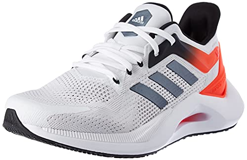 adidas ALPHATORSION 2.0 M, Chaussures de Running Homme, Blanc/Noir/Rouge (Ftwbla Negbás Rojsol), 44 EU