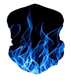 ALISISTER Blau Rauchen Multifunktionstuch Nahtloses Halstuch Schlauchtuch Schal 3D Druck Kopftuch...