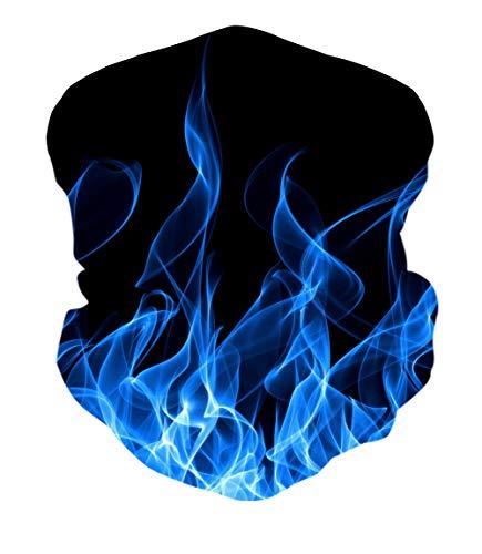 ALISISTER Blau Rauchen Multifunktionstuch Nahtloses Halstuch Schlauchtuch Schal 3D Druck Kopftuch Stirnband Motorrad Outdoor Halbes Bandana