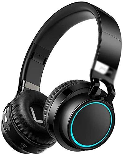 Zenghh Headset Bluetooth Wireless Music Sports Telefon Computer Headset mit faltbarem Stereo mit Rauschunterdrückung Mikrofon, Unterstützungs-TF-Freisprechfunktion und Wired-Modus (schwarz)