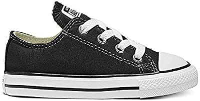 Converse Kids' Chuck Taylor All Star Canvas Low Top Sneaker, Black, 8 M US Toddler