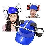 bestheart Drink Helmet Beer Drinking Helmet Lazy Beer Drink Cap Drinking Accessories for Adults & College (Blue)