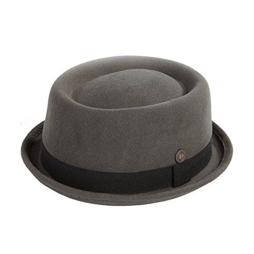 DASMARCA Jack Grigio Feltro delle Lane Inverno Porkpie Hat - S