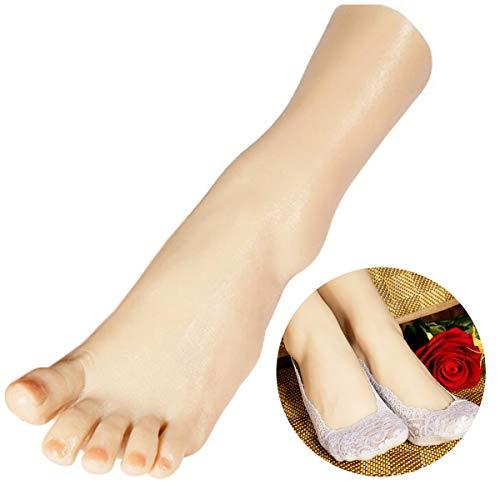 Levensgrootte Siliconen Voet Model Vrouwelijke Voeten Model Mannequin Voet Platina Silica Gel Mannequin voor Sieraden Sandaal Schoen Sock Display Pedicure Training