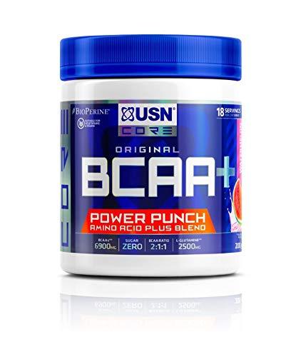 USN BCAA Power Punch, BCAA Powder with Vitamin B6 Intra Workout Amino...