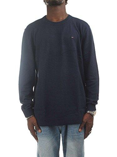 Tommy Hilfiger Essential suéter, Azul (Black Iris 002), Medium para Hombre