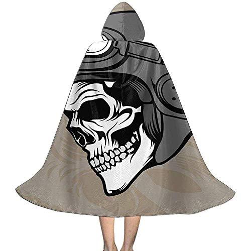 KDU Fashion Wizard Mantel, Schedel Helm Kids Hooded Gepersonaliseerde Magician Capes Met Hoed Voor Wizard Kostuums Cosplay 118cm