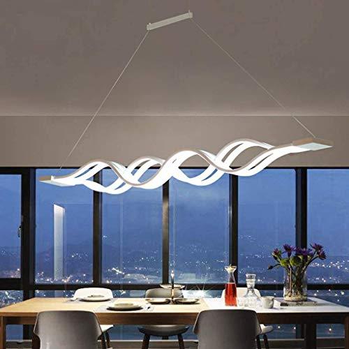 Living Equipment Lámpara colgante Regulable LED Mesa de comedor Lámpara de comedor Candelabros Lámparas colgantes Lámpara de techo de onda de metal ajustable en altura Lámpara colgante decorativa S
