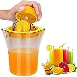 Citrus Lemon Orange Juicer Manual Hand Squeezer with Built-in Measuring Cup, 20OZ