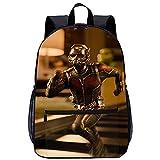 GZSBYJSWZ 3D-gedruckte Schultaschen Lässige Schulranzen Marvels Ant-ManAnt-Man / Scott Lang Paul geeignet für Jungen, Grund- und Mittelschüler Größe: 45x30x15 cm/17 Zoll Freizeitrucksack