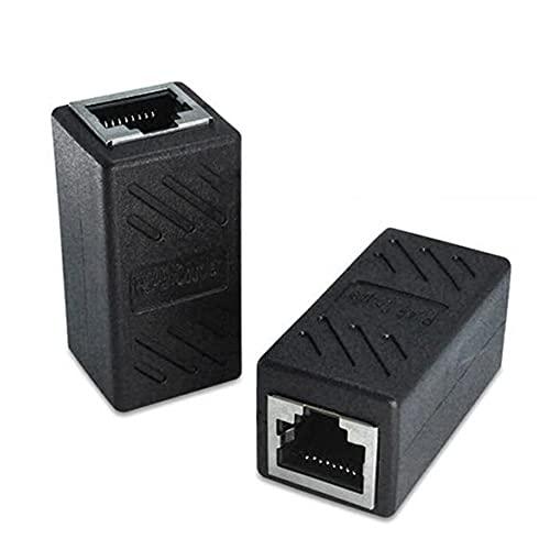 SENZHILINLIGHT 1 par de acoplador Hembra RJ45 para Ethernet Cat 5 / Cat 6 LAN Extensor de Cable Ethernet Uso de Alto Rendimiento