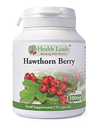 Hawthorn Berry 300mg x 90 Capsules (100% Additive Free Supplements)