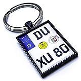 Internetservice Timo Lindner Schlüsselanhänger mit personalisiertem Motorradkennzeichen Schwarz Nummernschild Motorrad Personalisiert Individuell