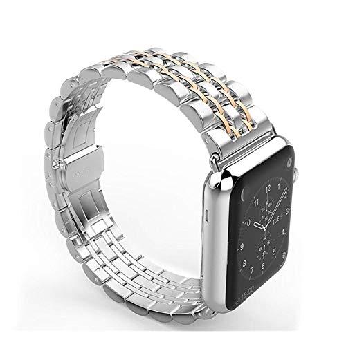Correa Aplicar a Apple Watch Band 44mm 40mm IWATCH Band 42mm / 38mm Pulsera de Acero Inoxidable Reloj de Reloj de Reloj de Reloj de Manzana 5 4 3 2 1 44 mm