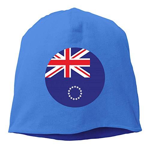 Sombrero Unisex de Gorros de Punto de Las Islas Cook, Gorra de Calavera Hip-Hop, Gorro de puño, Forro de Casco, Sombreros Lisos