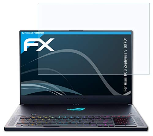 atFolix Schutzfolie kompatibel mit Asus ROG Zephyrus S GX701 Folie, ultraklare FX Bildschirmschutzfolie (2X)