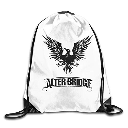 Sports Bags Bolsa de Gimnasio, Drawstring Bag Alter Bridge Blackbird Logo Gym Sport Bags Cinch Sacks Travel Hiking Backpack For Men Women