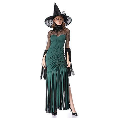 Xwenx Disfraz de Halloween para Vestidos de Chicas Cosplay Party Princess, Bruja Traje Cosplay Trajes para Mujer Vestido Anime Cosplay Disfraces Conjunto,XL