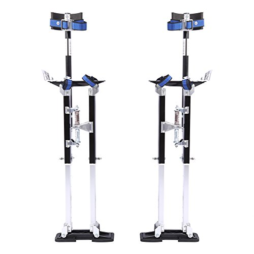 24-40 Inch Aluminum Drywall Stilts Tool Plastering Stilts Adjustable Height...