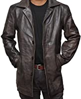 Brown Leather Jacket Men - Natural Distressed Leather Jackets for Men