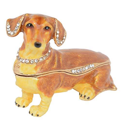 Dachshund Dog Trinket & Jewelry Box Dog Figurines Statues Cute Pet Gifts