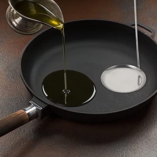 HEMOTON 4 Piezas de Acero Inoxidable Plano Freír Cucharas de Espátula Wok Cucharas de Pastel de Camarón Cucharas de Cocina Gadget para Pastel de Camarón Quemada Torta de Arroz