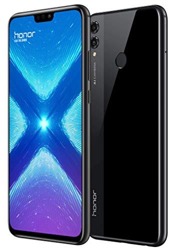 """Honor 8X, Smartphone (4G, RAM de 4 GB, Memoria de 64 GB, cámara de 20+2 MP), Bluetooth; WiFi; NFC, Android, 6.5"""", Negro"""