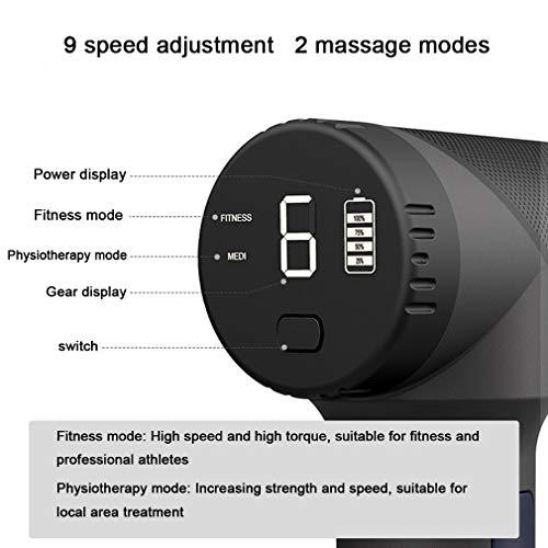 NYPB Electric Fascia Gun, Percussion Muscle Massage Gun Ultra Quiet 9 Speeds Percussion Muscle Massage Gun 6 Head Attachments Deep Tissue Muscle Pain Relief,Orange