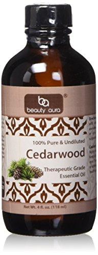 Beauty Aura Essential Oil, Cedarwood, 4 Ounce