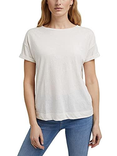 Esprit 041EE1K334 Camiseta, 110/Off White, XXL para Mujer