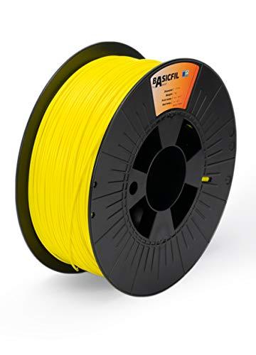 Basicfil PLA 1.75mm, 1 kg filamento per stampante 3D, Giallo