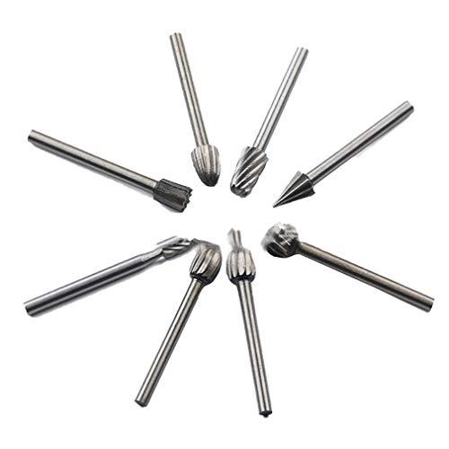 Generic 10-teiliges Set Hochgeschwindigkeits-Stahlschleifmaschine Schleifkopf Silber