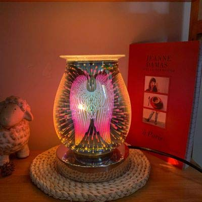 Fuoliystep Quemador de cera, quemador eléctrico para derretir la cera, quemador de aceite esencial para aceite esencial, quemador de cera eléctrico con luz, regalo de cumpleaños para ella