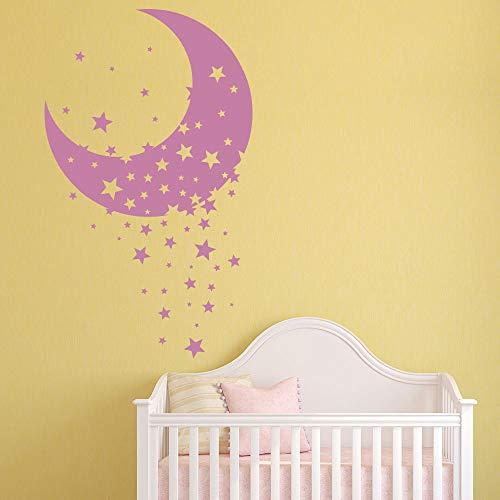 stickers muraux bebe juju et compagnie Chambre d'enfant décorative Moon & Star
