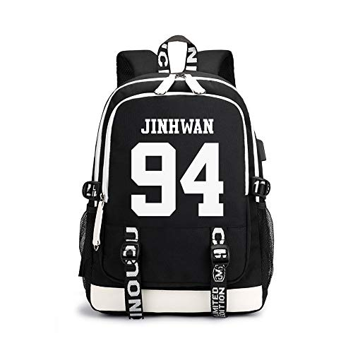 IKON Children's Backpack Printed Casual Daypack Simple Design Schoolbag Large Capacity Backpack for Boys and Girls Unisex (Color : A07, Size : 30 X 15 X 43cm)