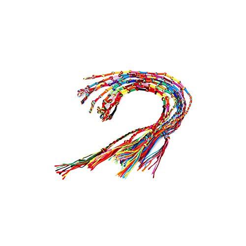YaptheS 9Pcs Trenzado Multicolor Cuerda Trenzada Festival del Bote del Dragón Colorido Cuerda Trenzada Hecha a Mano Tema Amistad Pulsera de Tobillo Pulseras de muñeca
