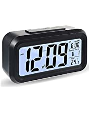 Reloj Despertador Digital, Luz Nocturna con Repetición De Pantalla Led, Reloj Despertador Junto a La Cama con Calendario De Tiempo Y Temperatura, para El Dormitorio De La Oficina En Casa