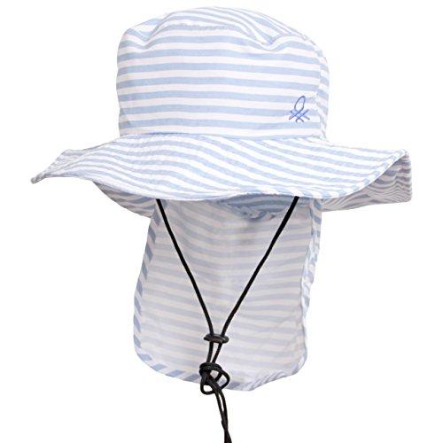 benetton(ベネトン) サーフハット レディース UVハット 日よけ付き 帽子 マリンハット ブルー F