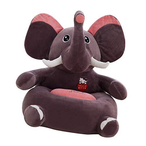 Fenteer Kinder Tiere Sitzsackhülle Sitzsack Sitzkissen Sitzsäcke Hülle Bezug - Elefant (Sitz)