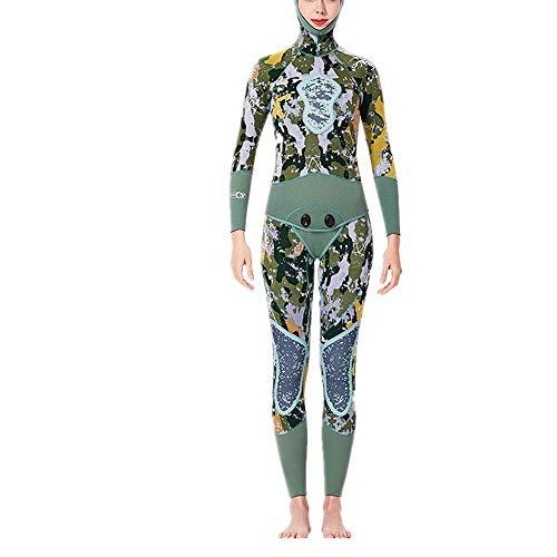 Traje de surf para mujer, trajes de neopreno para mujer Traje de buceo de manga larga con capucha para mujer Traje de buceo de cuerpo completo Traje de neopreno de alto grado Traje de surf para mujer