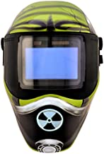 Save Phace Auto Darkening Welding Helmet Gassed Gen E - Ear to Ear vision Welder Hood Mask with External 4 x 4 Inch Adjustable ADF for SMAC/MIG/TIG/SPOT - 2 Sensors Solar Powered (3012459)