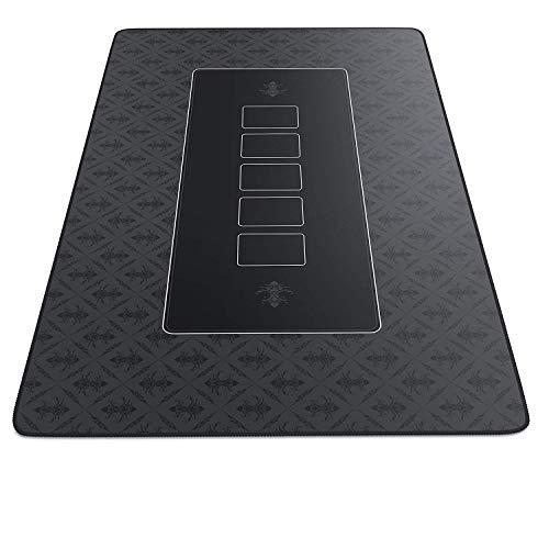 CSL-Computer tapete de Póker 100 x 60 cm - Profesional - Tamaño XXL - Parte Inferior revestida de Goma para un Agarre Estable - Lavable – Diseño de póker - Color Negro