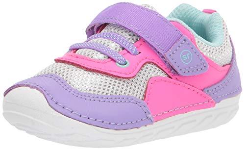 Stride Rite Baby Girls Soft Motion Rhett Sneaker, Pink/Purple, 4 Infant