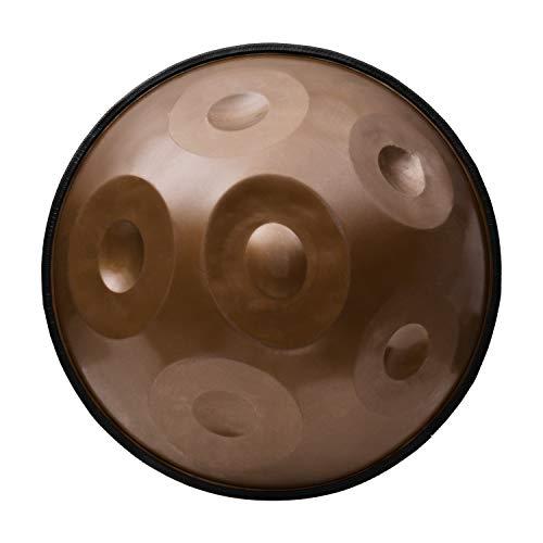 Muslady 17 pouces Handpan Hand Pan Hand Drum C-Key 6 Notes (A3 C4 D4 E4 F4 G4) Instrument de percussion avec sac de transport